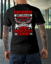 Firefighter encourager skilled kind compassionate Classic T-Shirt lifestyle-mens-crewneck-back-3
