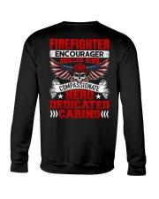 Firefighter encourager skilled kind compassionate Crewneck Sweatshirt thumbnail