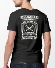 Plumber Hardest Part Classic T-Shirt lifestyle-mens-crewneck-back-5