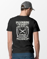 Plumber Hardest Part Classic T-Shirt lifestyle-mens-crewneck-back-6