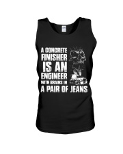 Concrete Finisher Is An Engineer Brains In Jeans Unisex Tank thumbnail