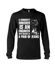 Concrete Finisher Is An Engineer Brains In Jeans Long Sleeve Tee thumbnail