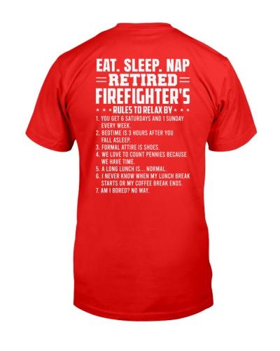 Eat Sleep Nap Retired Firefighter's Rules