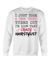 I Just Took A DNA Test - Crazy Hairstylist Crewneck Sweatshirt thumbnail