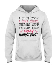 I Just Took A DNA Test - Crazy Hairstylist Hooded Sweatshirt thumbnail
