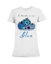 In November We Wear Blue Hairstylist Premium Fit Ladies Tee thumbnail