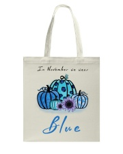 In November We Wear Blue Hairstylist Tote Bag thumbnail