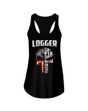 Logger I Can't Fix Stupid But I Can Fix Ladies Flowy Tank thumbnail
