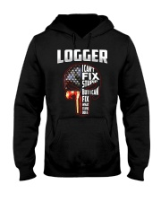 Logger I Can't Fix Stupid But I Can Fix Hooded Sweatshirt thumbnail