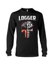 Logger I Can't Fix Stupid But I Can Fix Long Sleeve Tee thumbnail