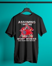 Assuming I Was Like Most Woman Firefighter Classic T-Shirt lifestyle-mens-crewneck-front-3