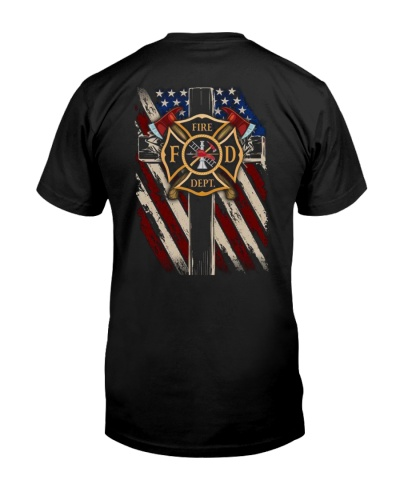 Firefighter Flag Tee