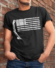 Heavy Equipment Operator Flag Classic T-Shirt apparel-classic-tshirt-lifestyle-26
