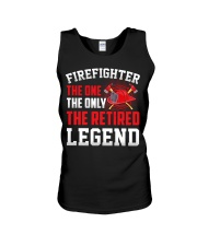 Firefighter The One The Only The Retired Legend Unisex Tank thumbnail