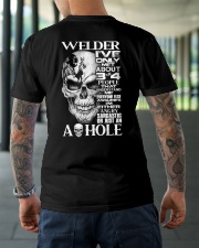 Welder I've Only Met About 3 Or 4 Classic T-Shirt lifestyle-mens-crewneck-back-3