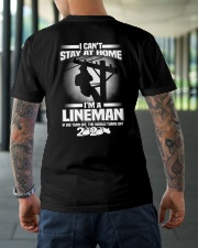 Lineman Can't Stay At Home Classic T-Shirt lifestyle-mens-crewneck-back-3