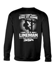 Lineman Can't Stay At Home Crewneck Sweatshirt thumbnail