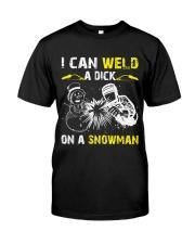 Welder Can Weld A Dick On A Snowman Premium Fit Mens Tee thumbnail