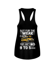 The weak Cause This ain't no 9 to 5 For Bus Driver Ladies Flowy Tank thumbnail