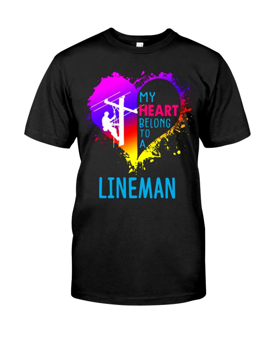 My Heart Belong To A Lineman Classic T-Shirt