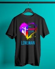 My Heart Belong To A Lineman Classic T-Shirt lifestyle-mens-crewneck-front-3