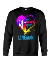 My Heart Belong To A Lineman Crewneck Sweatshirt thumbnail