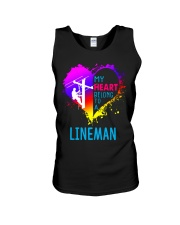 My Heart Belong To A Lineman Unisex Tank thumbnail