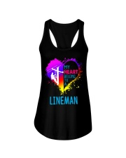 My Heart Belong To A Lineman Ladies Flowy Tank thumbnail