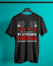 These Titties Are Already Taken By A Firefighter Classic T-Shirt lifestyle-mens-crewneck-front-3