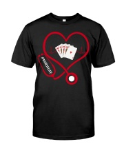 Nurse Play Cards Heartbeat Classic T-Shirt front