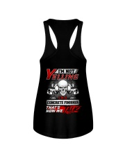 Yelling I'm A Concrete Finisher That's How We Talk Ladies Flowy Tank thumbnail