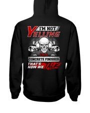 Yelling I'm A Concrete Finisher That's How We Talk Hooded Sweatshirt thumbnail