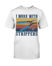 Electrician Work With Strippers Classic T-Shirt front
