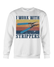 Electrician Work With Strippers Crewneck Sweatshirt thumbnail