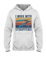Electrician Work With Strippers Hooded Sweatshirt thumbnail