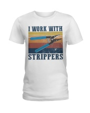 Electrician Work With Strippers Ladies T-Shirt thumbnail