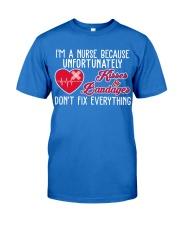 I'm A Nurse Because Unfort Unately Kisser Bandager Premium Fit Mens Tee thumbnail