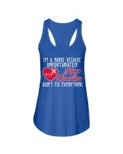 I'm A Nurse Because Unfort Unately Kisser Bandager Ladies Flowy Tank thumbnail