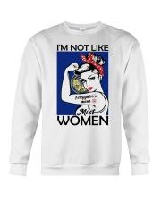 I'm Not Like Firefighter's Mom Most Women Nebraska Crewneck Sweatshirt thumbnail