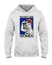 I'm Not Like Firefighter's Mom Most Women Nebraska Hooded Sweatshirt thumbnail