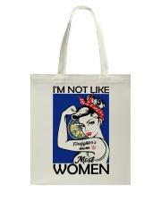 I'm Not Like Firefighter's Mom Most Women Nebraska Tote Bag thumbnail
