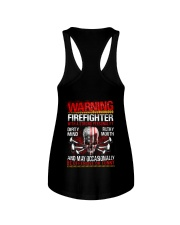 Warning Firefighter With A Strong Personalit Ladies Flowy Tank thumbnail