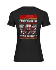 Warning Firefighter With A Strong Personalit Premium Fit Ladies Tee thumbnail