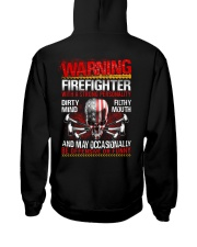 Warning Firefighter With A Strong Personalit Hooded Sweatshirt thumbnail