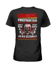 Warning Firefighter With A Strong Personalit Ladies T-Shirt thumbnail