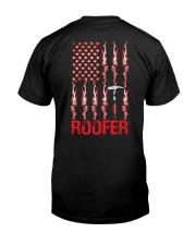 American Flag Roofer Classic T-Shirt back