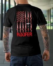 American Flag Roofer Classic T-Shirt lifestyle-mens-crewneck-back-3