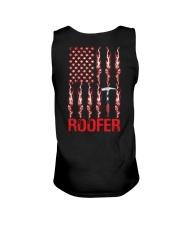American Flag Roofer Unisex Tank thumbnail