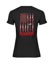 American Flag Roofer Premium Fit Ladies Tee thumbnail