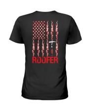 American Flag Roofer Ladies T-Shirt thumbnail